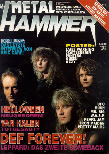 METAL HAMMER 04/92-Cover