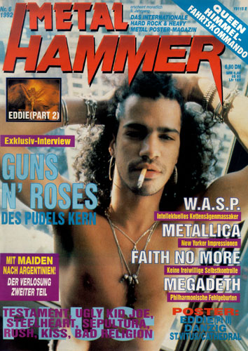METAL HAMMER 06/92-Cover
