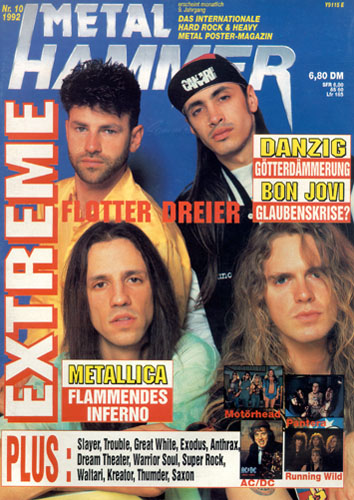 METAL HAMMER 10/92-Cover
